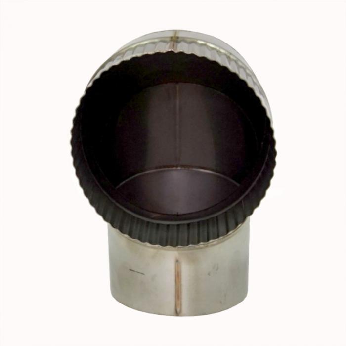 Отвод 90º без изоляции 150 / 0,8 мм AISI 304 СШ