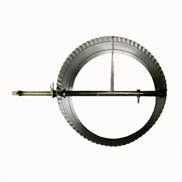 Шибер поворотный без изоляции 200 / 0,8 мм AISI 304