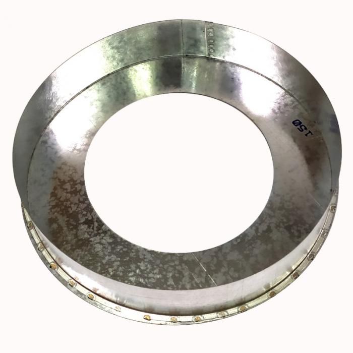 Заглушка нижняя 150/250 оцинк