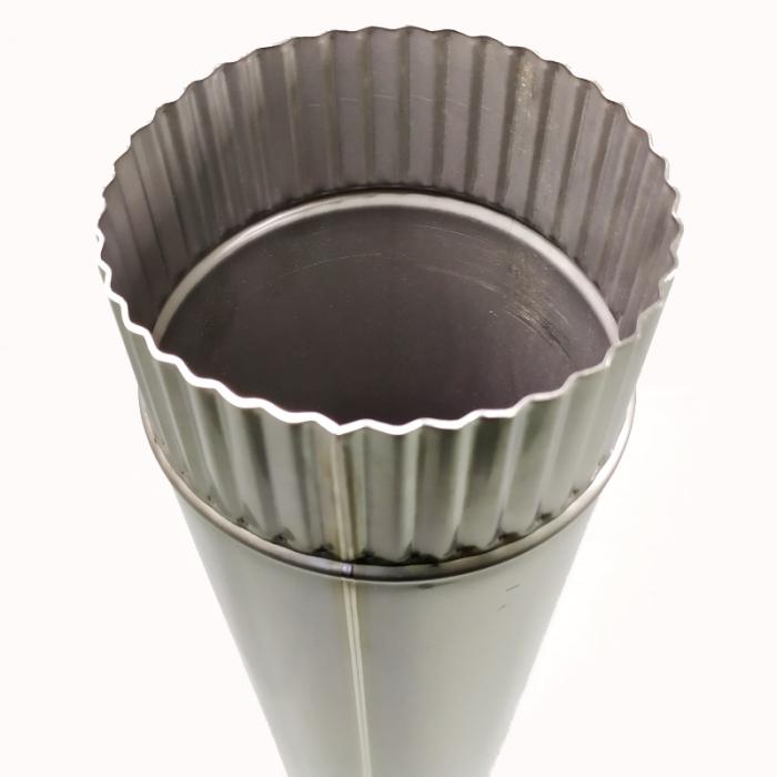 Труба без изоляции 1000 / 115 / 0,8 мм СШ AISI-304