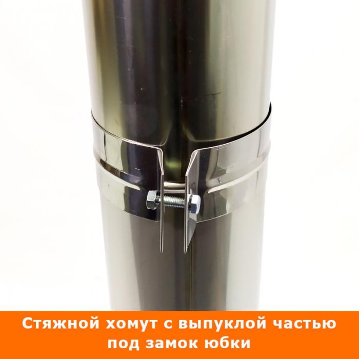 Труба без изоляции 500 / 115 / 0,5 мм СШ AISI-304