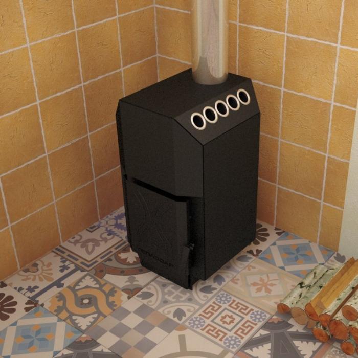 Отопительная печь ТОП-модель 140 со стальной дверцей