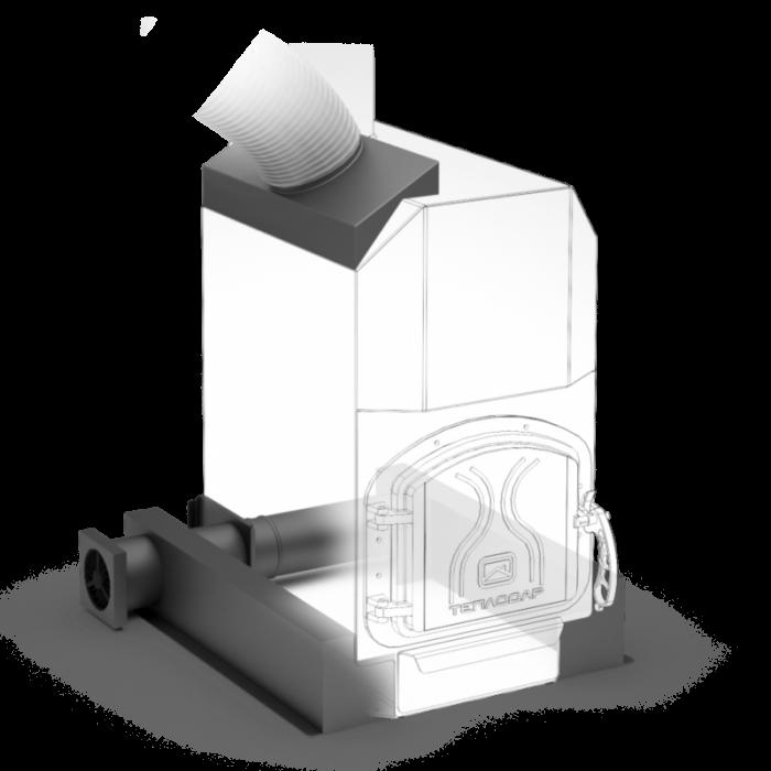 Отопительная печь ТОП-модель 300 с чугунной дверцей