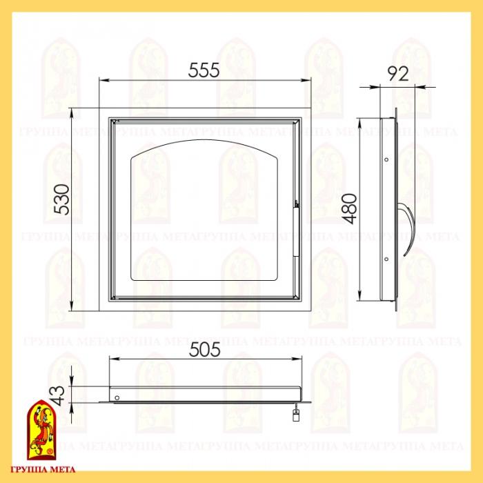 Каминная дверца ДК 555-1А