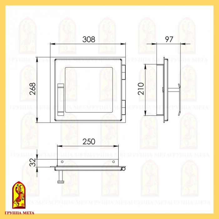 Печная дверца ДП 308-1С