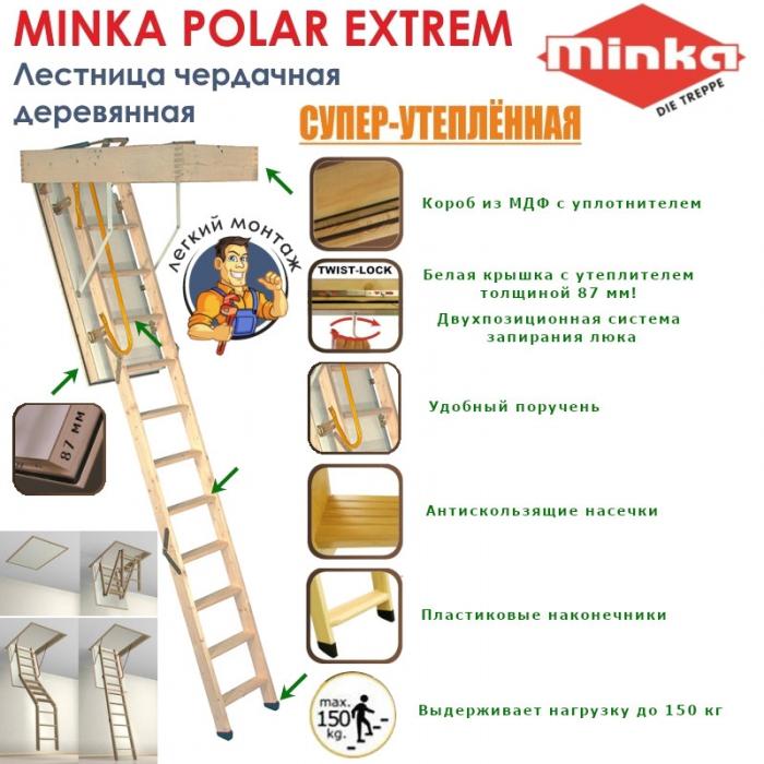 Чердачная лестница Polar Extrem 120/70