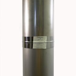 Труба без изоляции 1000 / 150 / 0,8 мм СШ AISI-304