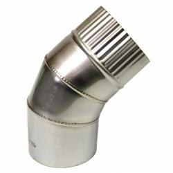Отвод 45º без изоляции 115 / 0,8 мм AISI 304