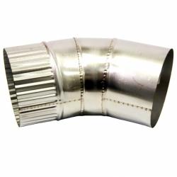 Отвод 45º без изоляции 115 / 0,5 мм AISI 304