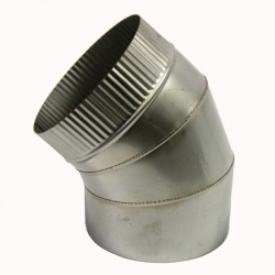 Отвод 45º без изоляции 200 / 0,8 мм AISI 304