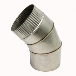 Отвод 45º без изоляции 150 / 0,8 мм AISI 304 СШ
