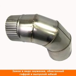 Отвод 90º без изоляции 115 / 0,5 мм AISI 304