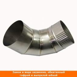 Отвод 90º без изоляции 150 / 1 мм AISI 304 СШ