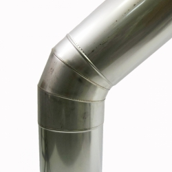 Отвод 45º без изоляции 150 / 0,5 мм AISI 304 СШ