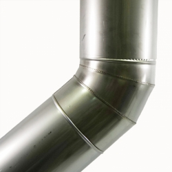 Отвод 45º без изоляции 200 / 0,8 мм AISI 304 СШ