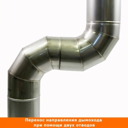 Отвод 90º без изоляции 200 / 0,8 мм AISI 304