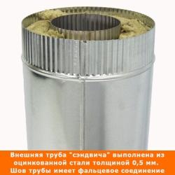 Труба с изоляцией 500 / 115/215 / 0,5 мм AISI 304/оцинк. СШ