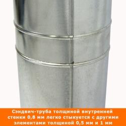 Труба с изоляцией 500 / 115/215 / 0,8 мм AISI 304/оцинк.