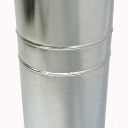 Труба с изоляцией 1000 / 115/215 / 0,8 мм AISI 304/оцинк. СШ