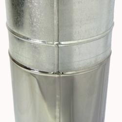Труба с изоляцией 1000 / 115/215 / 0,5 мм AISI 304/430