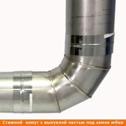 Отвод 90º без изоляции 115 / 1 мм AISI 304