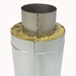 Труба с изоляцией 1000 / 150/250 / 1 мм AISI 304/оцинк.