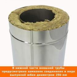 Труба с изоляцией 1000 / 150/250 / 0,8 мм AISI 304/430