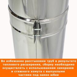 Труба с изоляцией 500 / 115/215 / 1 мм AISI 304/430