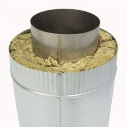 Труба с изоляцией 500 / 150/250 / 0,5 мм AISI 304/оцинк. СШ