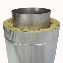 Труба с изоляцией 500 / 200/300 / 0,8 мм AISI 304/оцинк. СШ