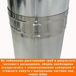 Труба с изоляцией 500 / 200/300 / 0,5 мм AISI 304/оцинк.