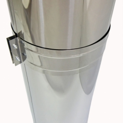 Труба с изоляцией 1000 / 200/300 / 0,8 мм AISI 304/430