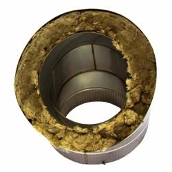Отвод 45º с изоляцией 200/300 / 0,8 мм AISI 304/430 СШ