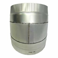 Отвод 45º с изоляцией 150/250 / 0,5 мм AISI 304/оцинк.