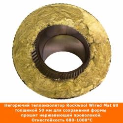 Отвод 45º с изоляцией 150/250 / 0,8 мм AISI 304/430