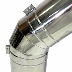 Отвод 45º с изоляцией 150/250 / 0,8 мм AISI 304/430 СШ