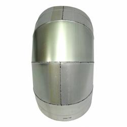 Отвод 90º с изоляцией 200/300 / 0,8 мм AISI 304/оцинк.
