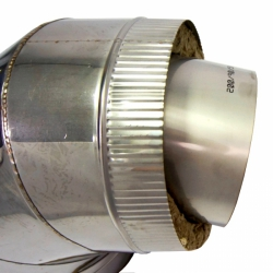 Отвод 90º с изоляцией 200/300 / 1 мм AISI 304/430