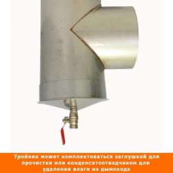 Тройник без изоляции 90º 200 / 1,0 мм AISI 304