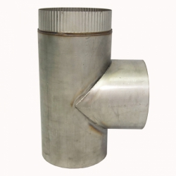Тройник без изоляции 90º 200 / 2 мм AISI 430
