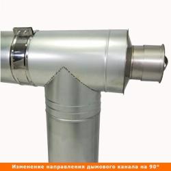 Тройник с изоляцией 90º 115/215 / 0,8 мм AISI 304/оцинк.