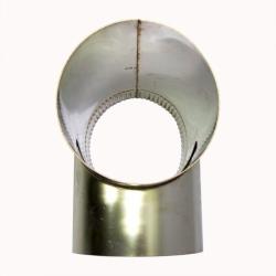 Тройник без изоляции 90º 200 / 0,5 мм AISI 304