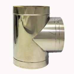Тройник с изоляцией 90º 200/300 / 1 мм AISI 304/430 СШ