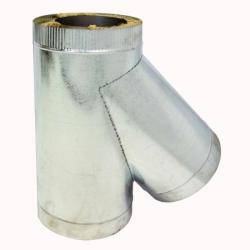 Тройник с изоляцией 45º 200/300 / 0,5 мм AISI 304/оцинк.