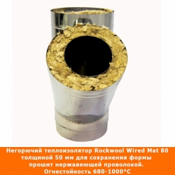 Тройник с изоляцией 45º 150/250 / 0,8 мм AISI 304/430