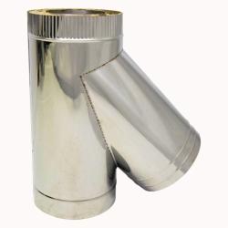 Тройник с изоляцией 45º 150/250 / 1 мм AISI 304/430