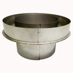 Заглушка со вставкой по конденсату 200/300 / 1 мм AISI 304/430