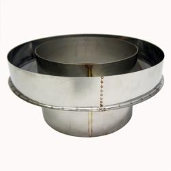 Заглушка со вставкой по конденсату 200/300 / 0,8 мм AISI 304/430 СШ