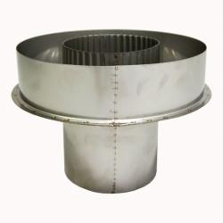 Заглушка со вставкой по дыму 115/215 / 1 мм AISI 304/430