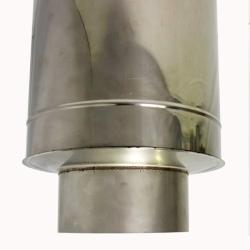 Заглушка со вставкой по дыму 200/300 / 0,5 мм AISI 304/430